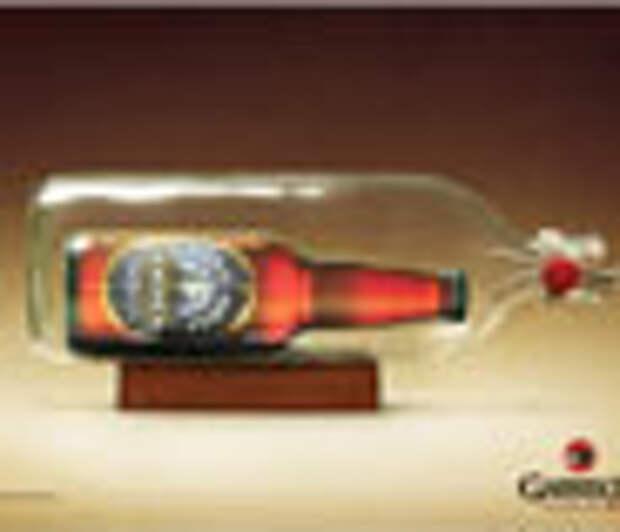 «Высокий корабль» в бутылке