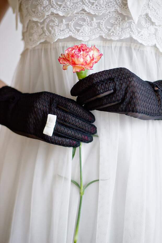 Кольцо-бантик на перчатку (Diy)