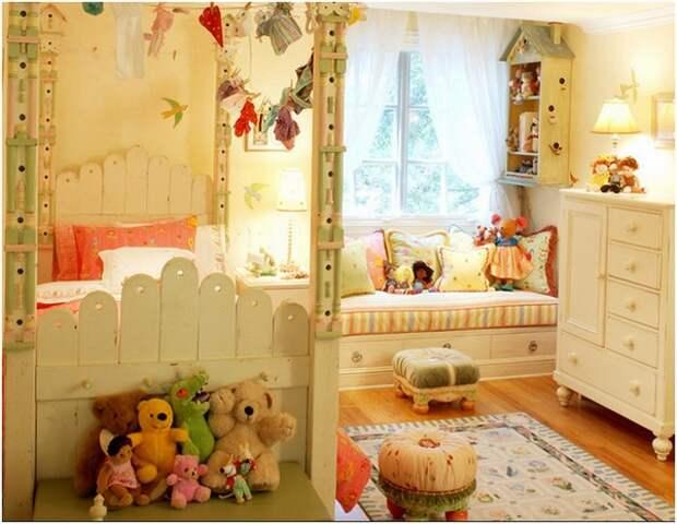 Диван подоконник в детской комнате