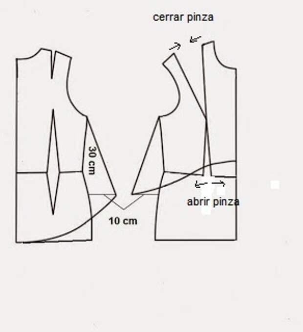 Накидка на платье (почти выкройка)