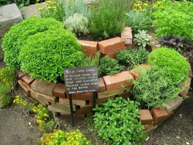 С помощью спирали можно сделать отличное декоративное украшение сада. /Фото: i.pinimg.com