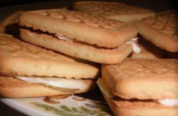 Пирожное из печенья детство, еда