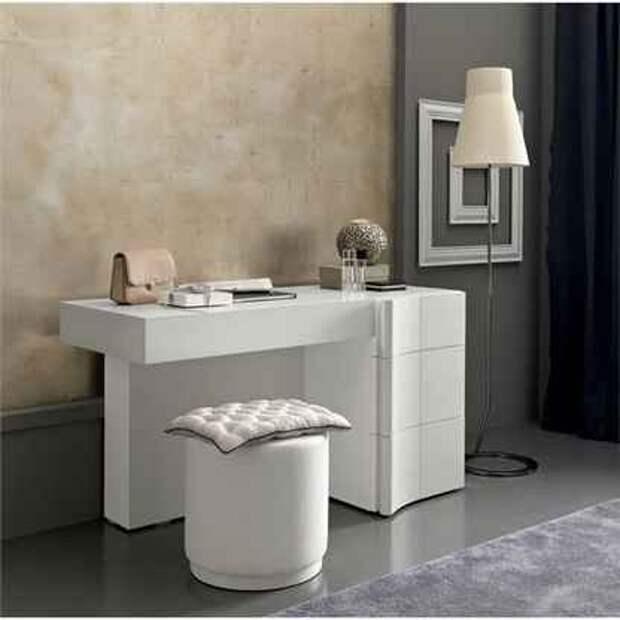 Современный туалетный столик — предмет обстановки, способный стать акцентом