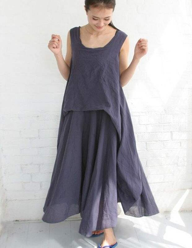 Womens Clothing Linen Dresses Long Dresses by ttlovewomenclothing, $108.00