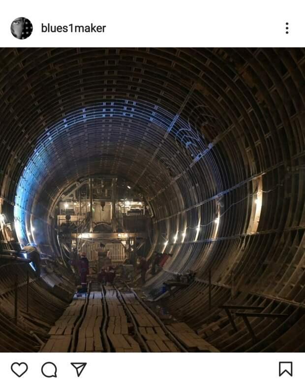 Фото дня: в тоннеле БКЛ «Марьина Роща» ушла вода