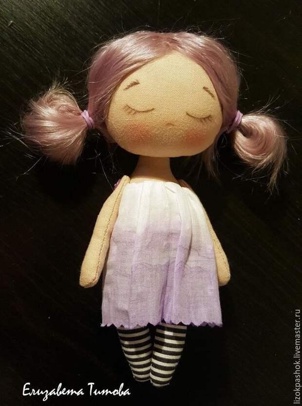 Шьем куколку «лавандовый мотылек» из обрезков ткани, фото № 11