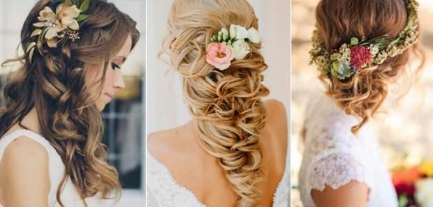 Свадебные причёски (подборка diy)