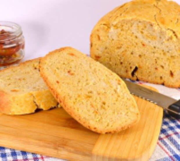 Хлеб с отрубями и вялеными помидорами в хлебопечке