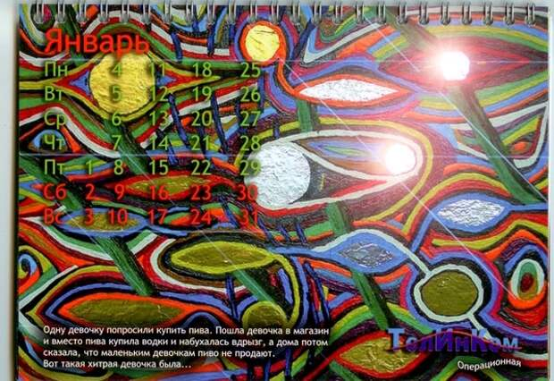Календарь ТелИнКом-2010: Январь