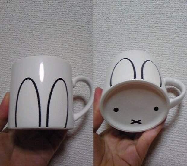 Кружка с рисунком в виде кролика