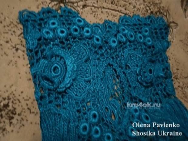 Кофточка в технике ирландского кружева - работа Елены Павленко вязание и схемы вязания