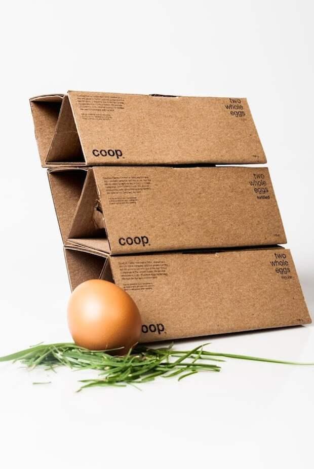 Элегантная упаковка для яиц из одного куска картона