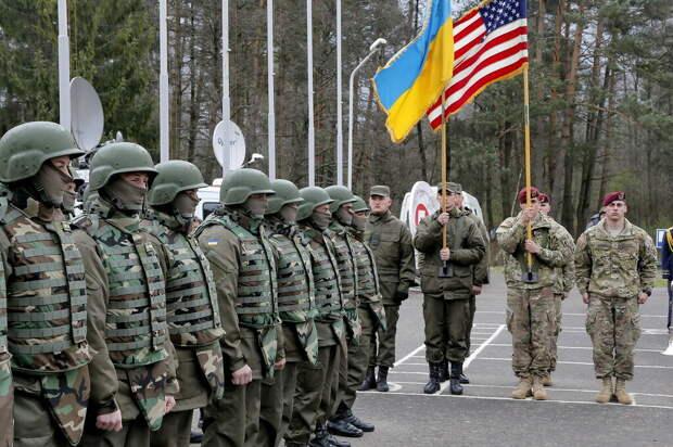 На учениях украинской армии присутствовали американские военные