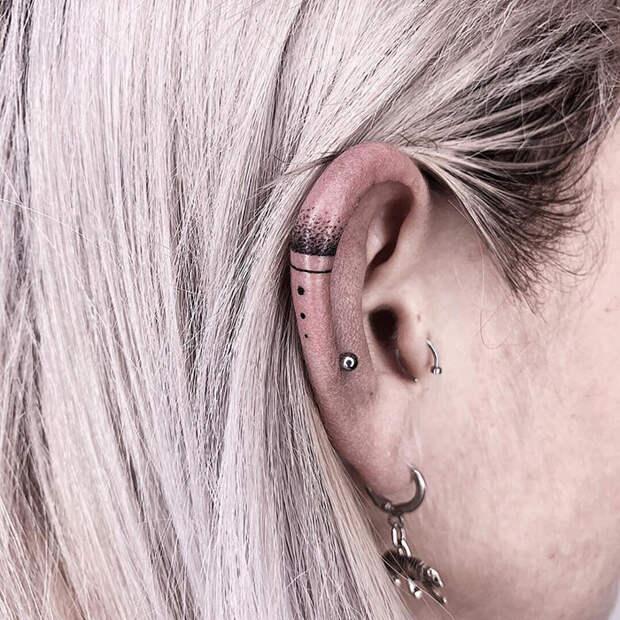 8 офигенных фото с идеями тату на ухе
