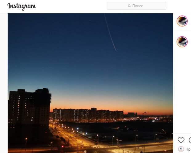 Фото дня: «падающая комета» на Маресьева