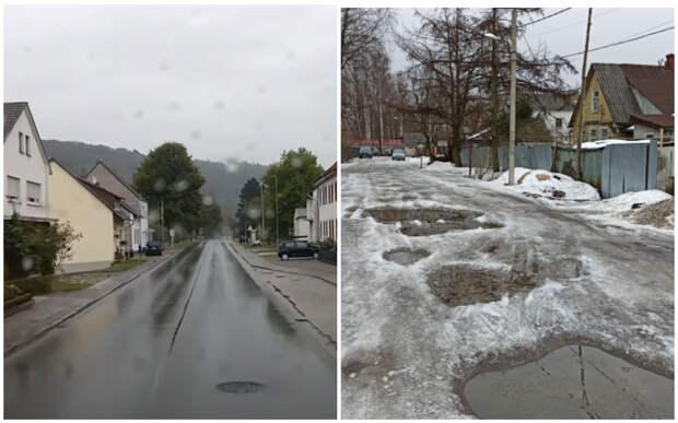 Блогер назвал причину чистых дорог весной в Европе