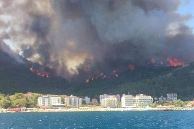 Курортные регионы Турции в огне