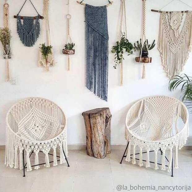 Макраме кресла (подборка идей)