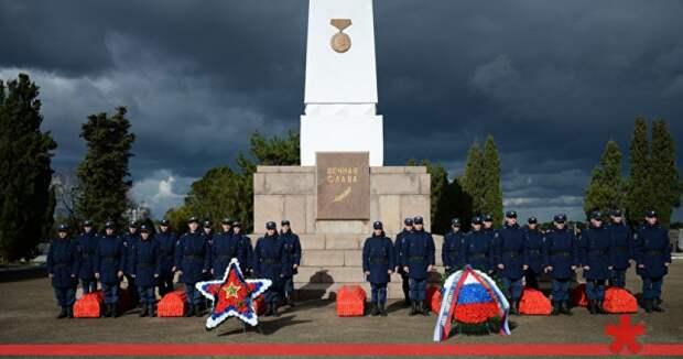 В Севастополе перезахоронили останки семерых советских воинов