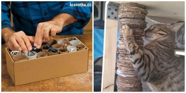 10 крутых идей для применения картонных коробок в быту