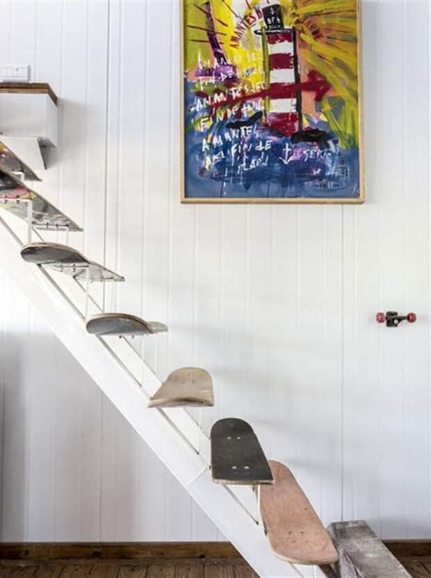 лестница своими руками из скейтов