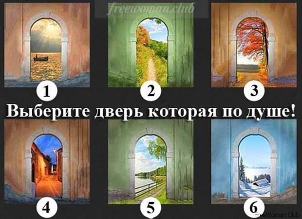 Тест выбери дверь
