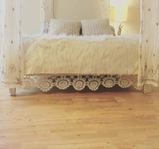 Уютные и милые поделки из кружева для дома
