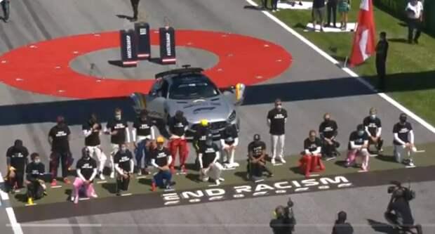 Российский гонщик F1 отказался вставать на колени в знак протеста против расизма
