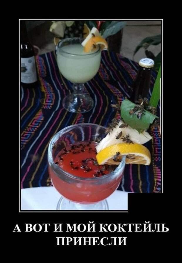 Демотиватор про коктейли
