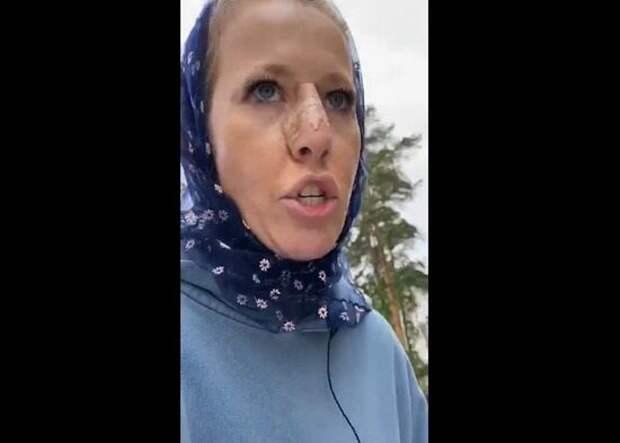 Собчак рассказала о последствиях нападения на нее в женском монастыре