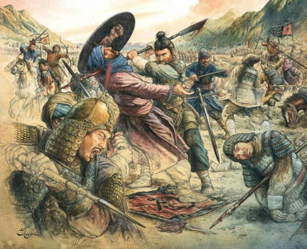 Битва при Талассе. 751 год. Столкновение исламского и китайского миров.