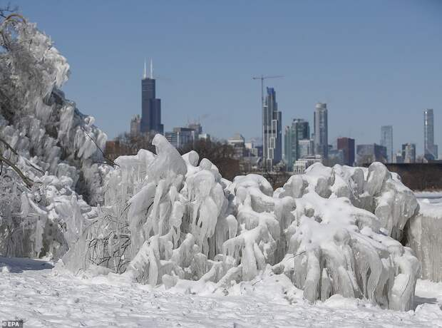 Рекордно низкие температуры сеют хаос в США