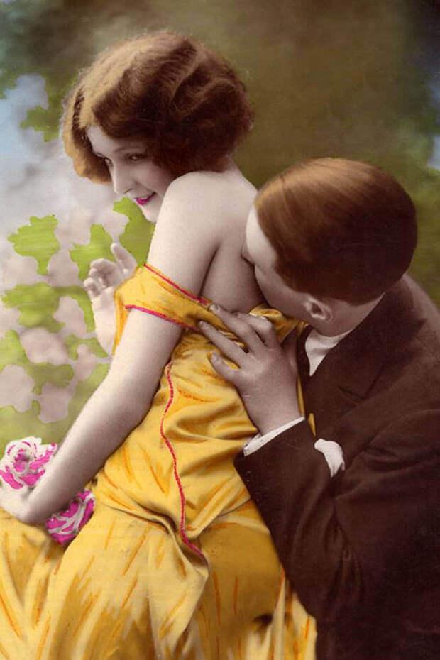 Французские открытки, в которых показано, как романтично целовались в 1920-е годы 34