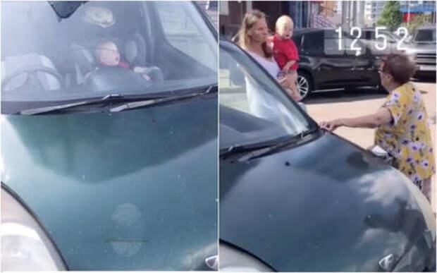 Мать закрыла младенца в машине и ушла. Полиция разбирается