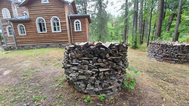 Заготовка дров на острове Валаам