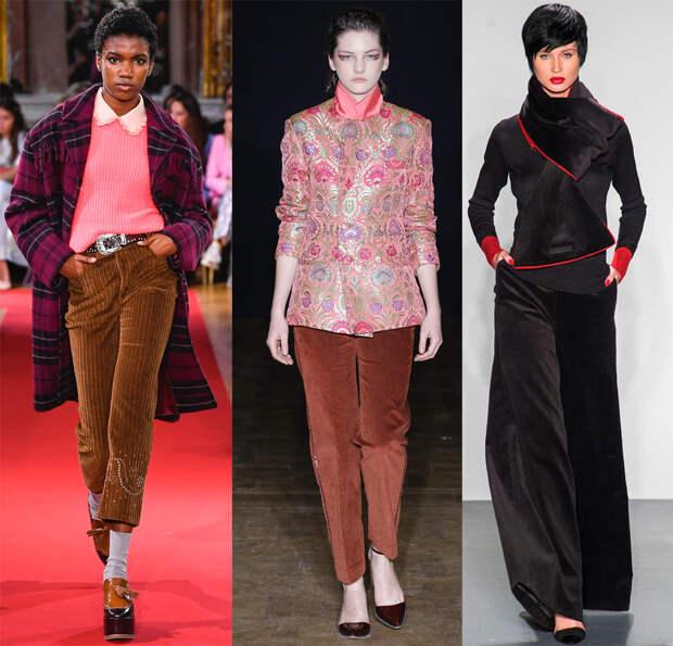 Женские брюки из вельвета