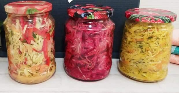 Готовлю сразу 3 салата из капусты на несколько дней из одного кочана капусты