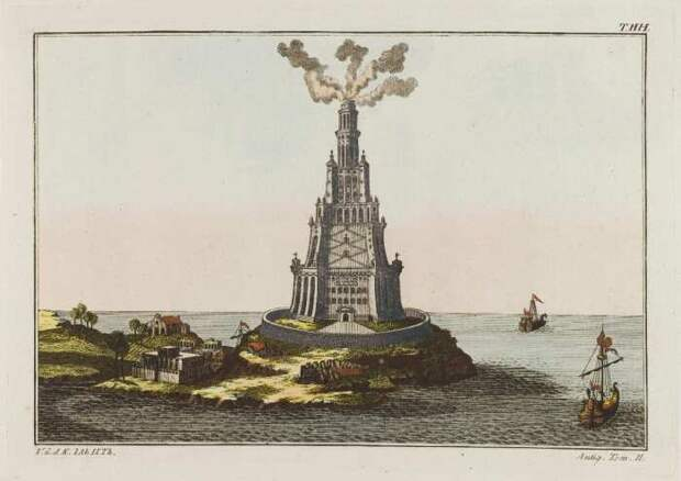 Фарос Александрийский, Роберт фон Спаларт, 1804-1811 гг. \ Фото: wordpress.com.