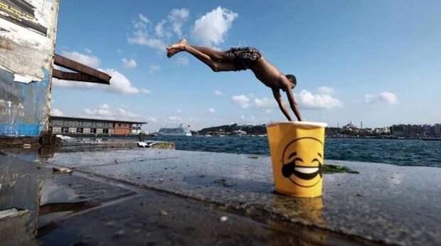 Прыжок в воду в нужный момент