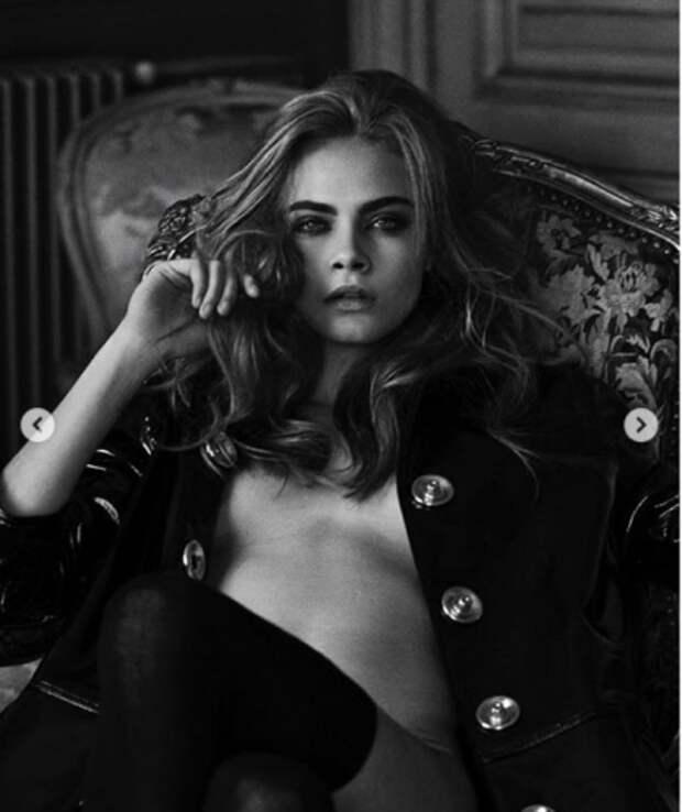 Кара Делевинь почти полностью обнажилась для новых фотографий