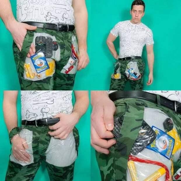 Прозрачные карманы
