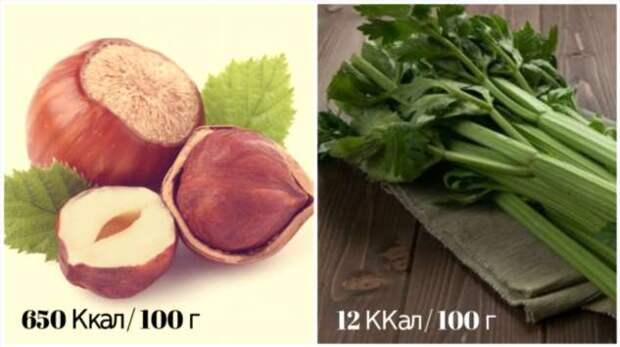 Заблуждения о высокой или низкой калорийности продуктов, которые заставляют нас верить стереотипам