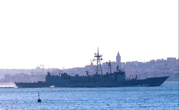 Появилось видео кораблей НАТО в Чёрное море