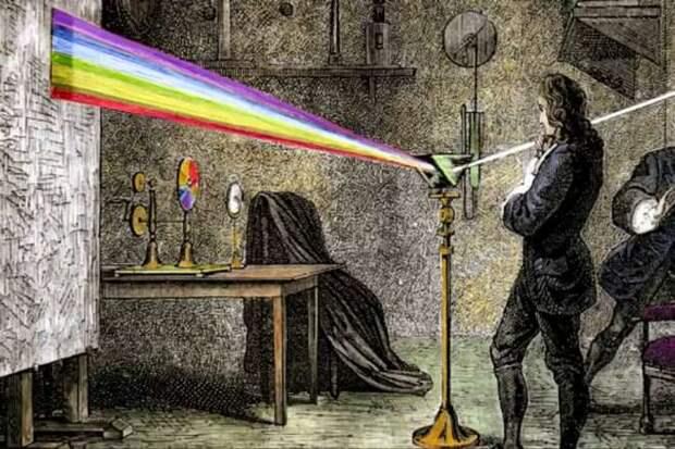 Ньютон преломление света