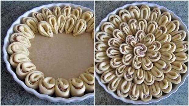 укладка пирога