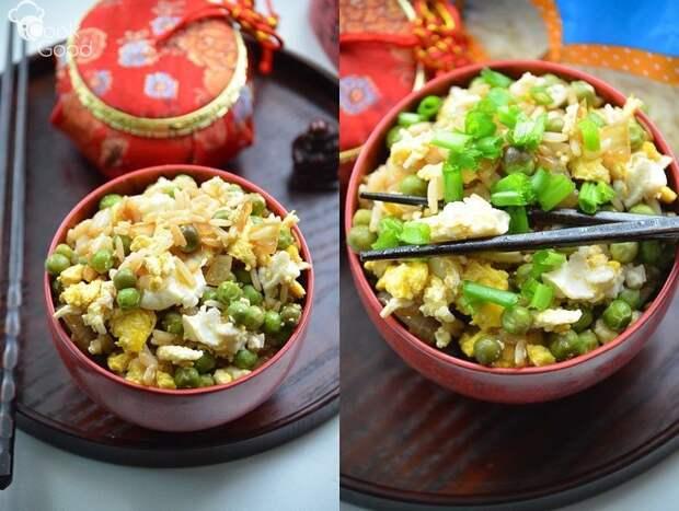 Китайский рецепт риса с яйцом