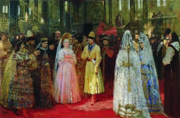 """Картина Ильи Репина """" Выбор великокняжеской невесты"""". Фото из открытого источника."""