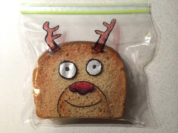 Lately there's been some Christmas sandwiches.