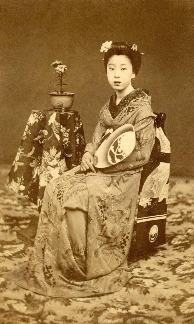 1870. Кайо была самой известной Майко (ученицей гейши) в ранний период Мэйдзи в районе Киото