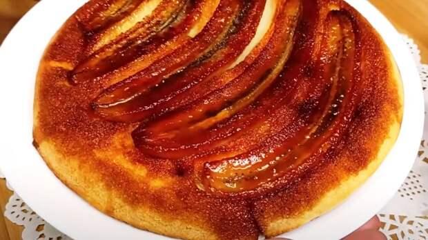 Знаменитый быстрый и легкий банановый торт всего с 1 яйцом. Один из самых простых и легких рецептов